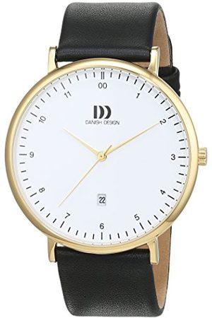 Danish Design Męski analogowy zegarek kwarcowy ze skórzanym paskiem 3310093