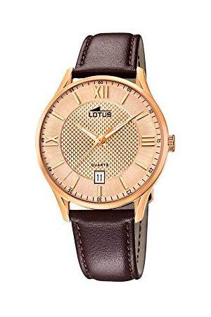 Lotus 18404/B męski analogowy zegarek kwarcowy ze skórzanym paskiem