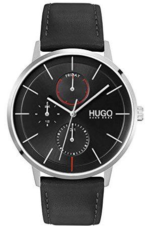 HUGO BOSS Męski analogowy zegarek kwarcowy ze skórą cielęcą, pasek 1530169