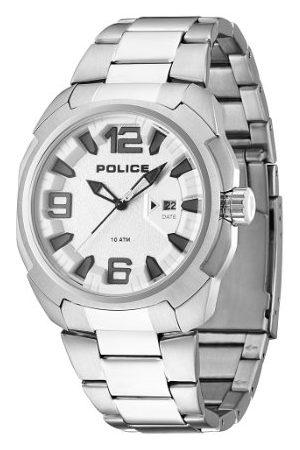 Police Męski zegarek na rękę XL TEXAS analogowy kwarcowy stal szlachetna PL.13904JPBBL/02