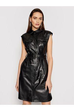 Karl Lagerfeld Sukienka z imitacji skóry Faux 211W1308 Regular Fit