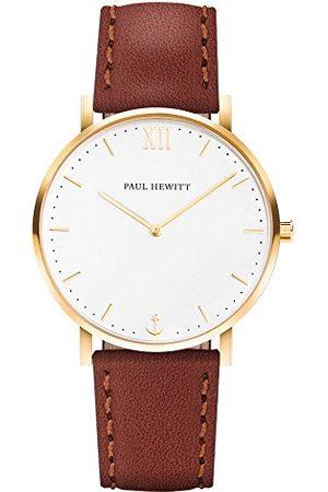 Paul Hewitt Unisex zegarek na rękę analogowy kwarcowy skóra PH-SA-G-Sm-W-1S
