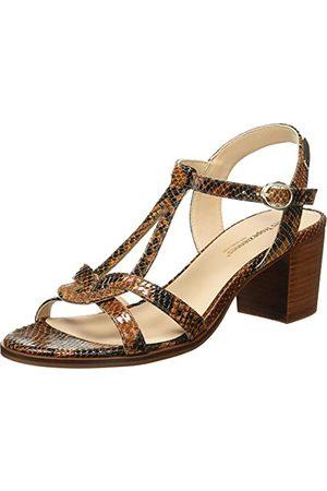 Les Tropéziennes par M Belarbi Kobieta Sandały - Damskie sandały liliowe z obcasem, brązowy - Femme - 39 eu