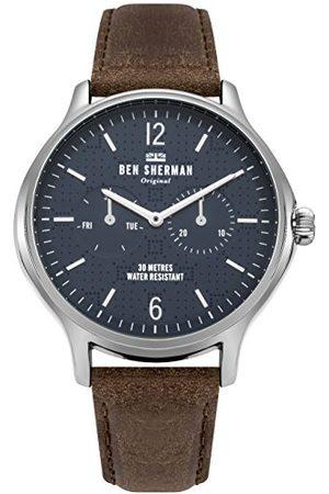 Ben Sherman Męski analogowy klasyczny zegarek kwarcowy ze skórzanym paskiem WB017UBR