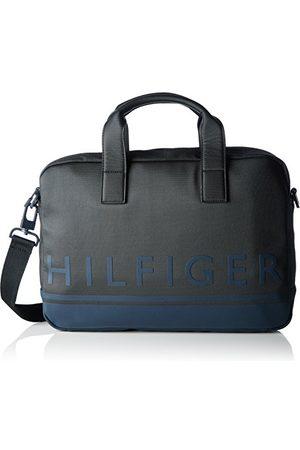 Tommy Hilfiger Męska torba na laptopa Signature Stripes czarna (Black)