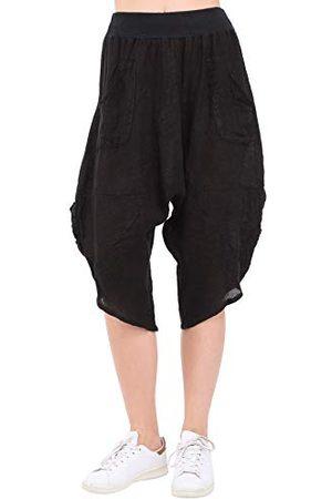 Bonamaison Damskie spodnie TRLSC101200 na co dzień, czarne, S