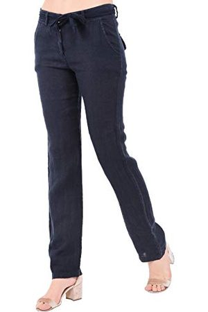 Bonamaison Damskie spodnie TRLSC100956 na co dzień, morskie, S
