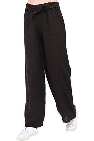 Bonamaison Damskie spodnie TRLSC101081 na co dzień, czarne, M