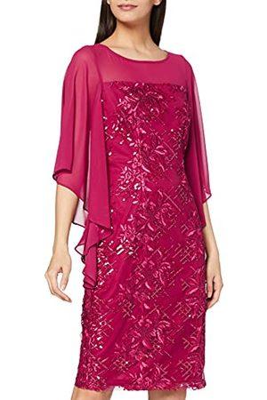 Gina Bacconi Damska sukienka koktajlowa z haftowanym rękawem