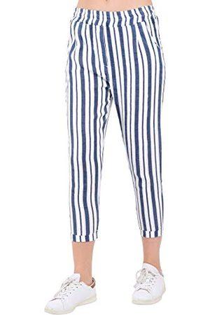 Bonamaison Kobieta Spodnie - Damskie spodnie TRLSC101007 na co dzień, białe, XL