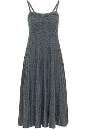 myMo Damska sukienka 124027_Asche_XL_12411466 luźna