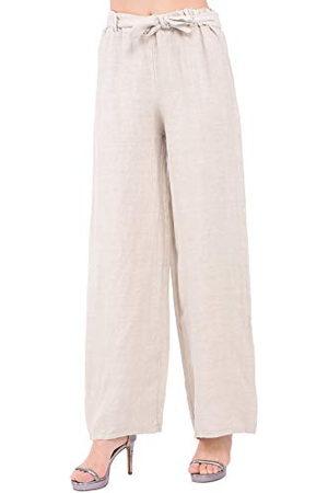 Bonamaison Damskie TRLSC101092 spodnie na co dzień, len, S