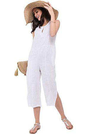 Bonamaison Damska sukienka o średniej długości z paskami i otwarciem z tyłu na co dzień