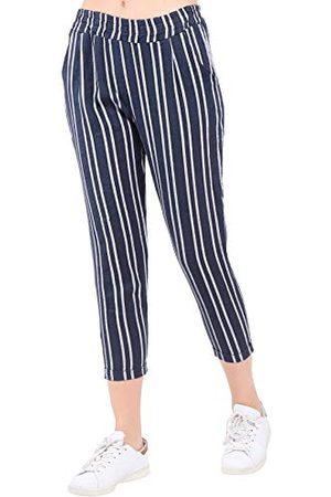 Bonamaison Damskie TRLSC101010 spodnie na co dzień, morskie, L