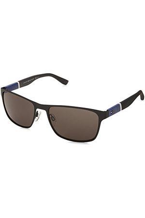 Tommy Hilfiger Męskie okulary przeciwsłoneczne TH 1283/S NR FO3 57, czarne (Bluewhtgry/BRW Grey)