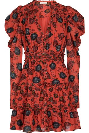 ULLA JOHNSON Windsor floral cotton-blend minidress
