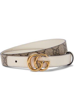 Gucci GG Supreme leather belt in beige