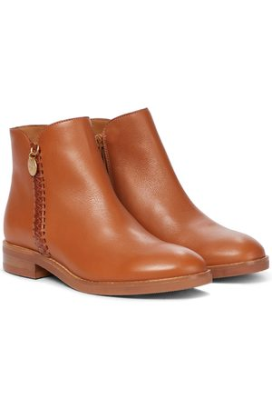 Chloé Whipstitched leather ankle boots