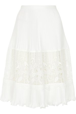 See By Chloé Lace-trimmed midi skirt