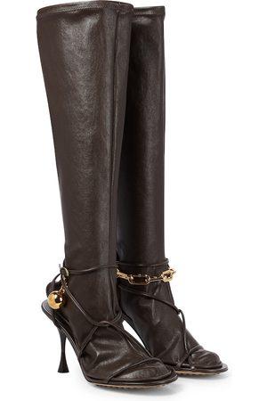 Bottega Veneta Kobieta Botki - Dot leather boots