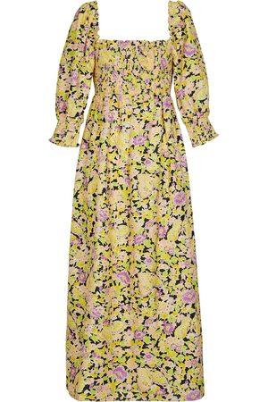 RIXO Floral printed maxi dress