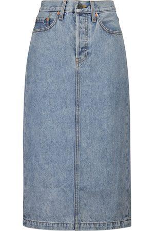 WARDROBE.NYC Midi denim skirt