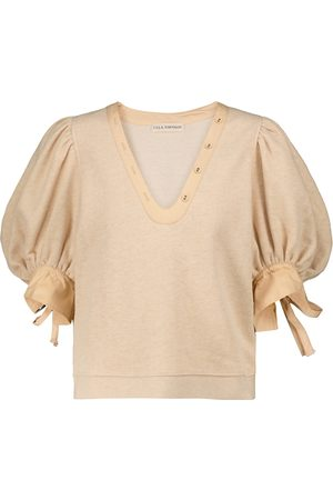 ULLA JOHNSON Bess knitted cotton top