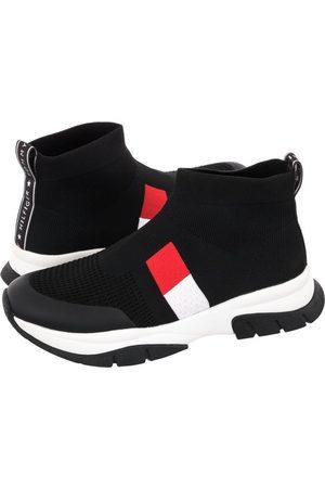 Tommy Hilfiger Kobieta Sneakersy - Sneakersy Sock Sneaker T3A4-31182-0702 999 Black (TH261-a)