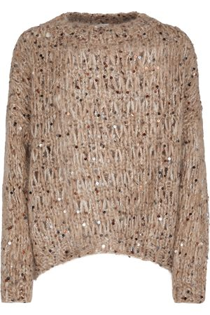Brunello Cucinelli Kobieta Swetry i Pulowery - Sequined mohair-blend sweater