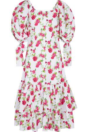 Caroline Constas Kobieta Sukienki z nadrukiem - Nella floral cotton-blend midi dress