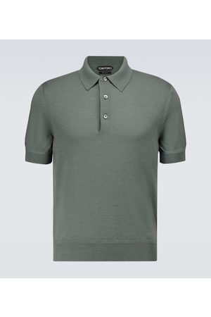 Tom Ford Cashmere and silk short-sleeved polo