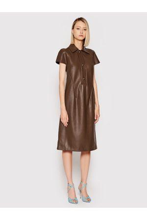 LIVIANA CONTI Sukienka z imitacji skóry F1WT11 Regular Fit