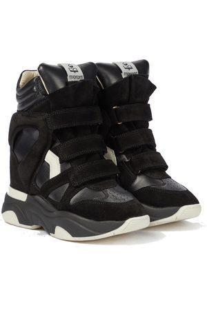 Isabel Marant Balskee leather wedge sneakers
