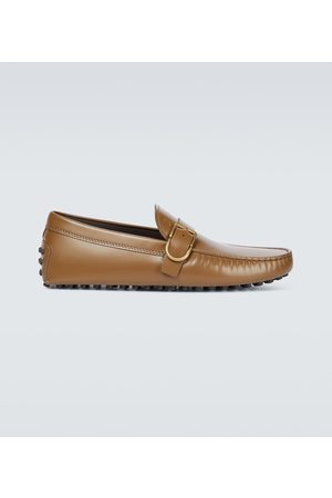 Tod's D-ring leather loafers