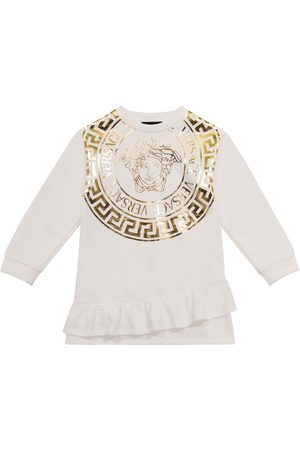 VERSACE Medusa stretch-cotton sweatshirt dress