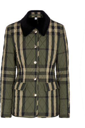 Burberry Checked quilted jacket