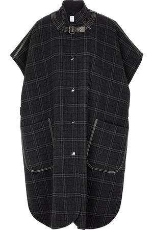 Burberry Checked wool and cashmere cape