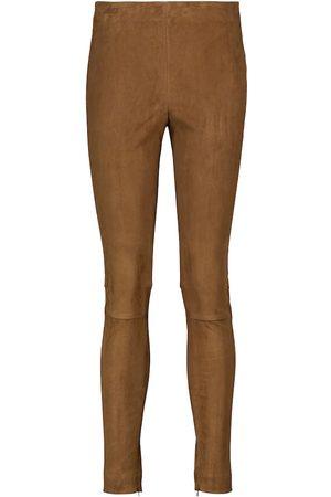 Polo Ralph Lauren Kobieta Rurki - High-rise suede skinny pants