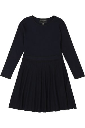 Emporio Armani Pleated jersey dress