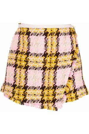 Pinko Check-pattern high-waisted shorts