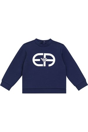 Emporio Armani Kids Baby stretch cotton-blend sweatshirt