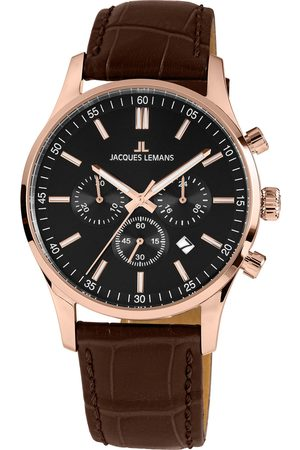 Jacques Lemans Mężczyzna Zegarki - Zegarek - London 1-2025D Brown/Rose Gold