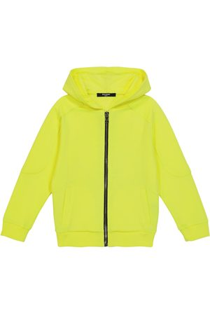 Balmain Kids Cotton zip-up hoodie