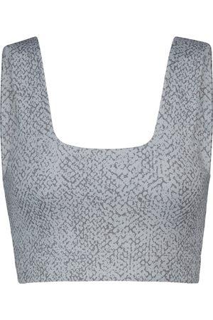 Varley Delta snake-print sports bra