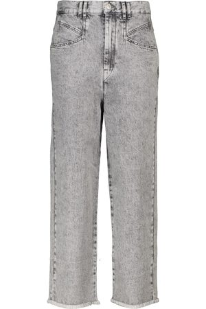 Isabel Marant Dilali high-rise straight cropped jeans