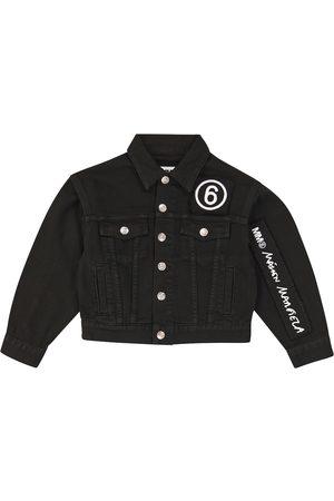 MM6 Maison Margiela Kids Dziewczynka Kurtki jeansowe - Logo-embroidered jeans jacket