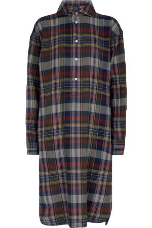Polo Ralph Lauren Checked cotton midi dress