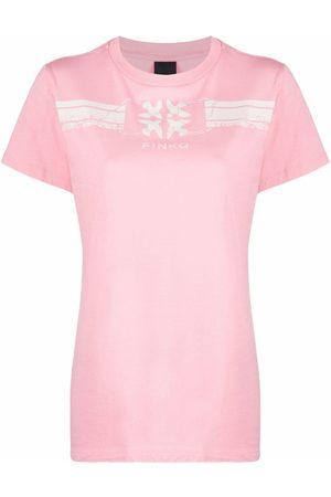 Pinko Kobieta Koszule - Logo-print T-shirt