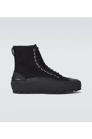 Jil Sander Tenisówki i Trampki - High-top canvas sneakers