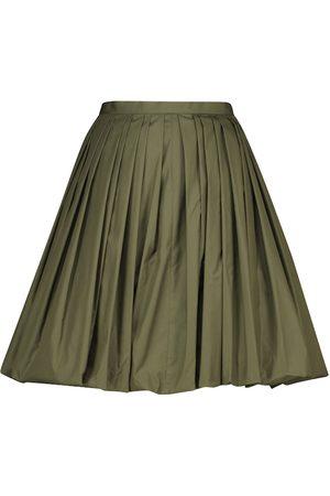 Alaïa Kobieta Szorty - Cotton-blend poplin miniskirt